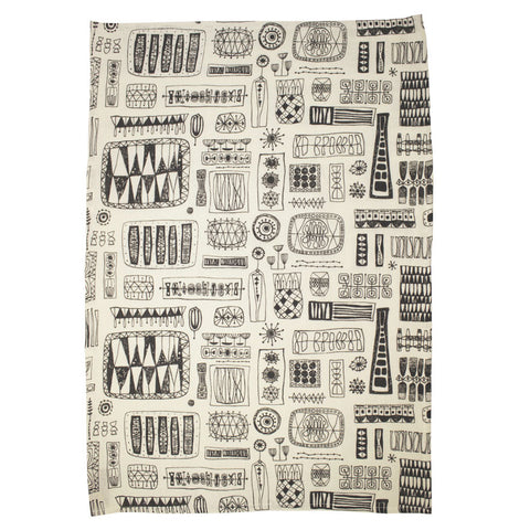 Spaces tea towel