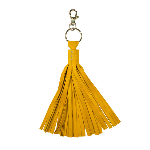 Tassel keyring - yellow