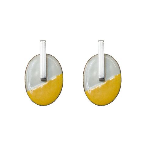 Enamel studs - two tone