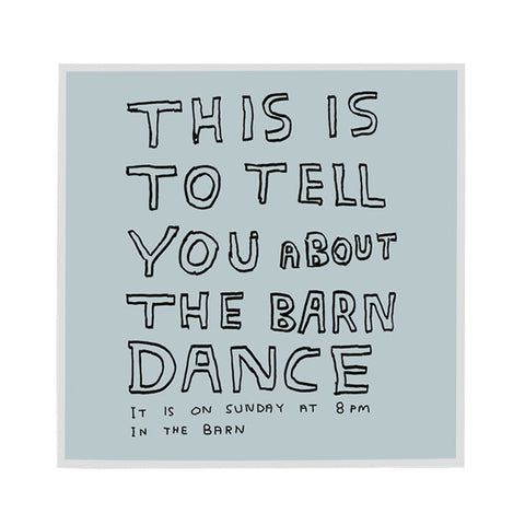 Barn dance card