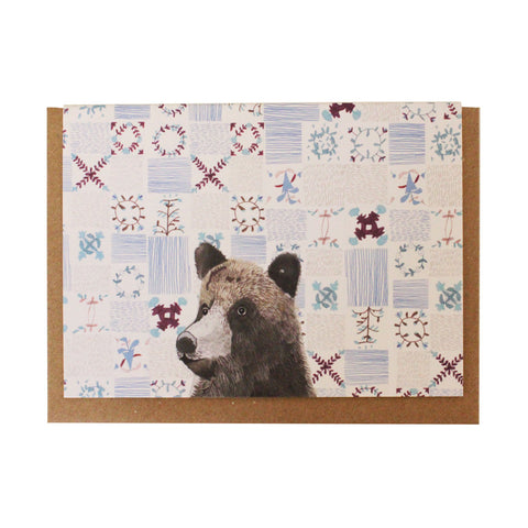 Patchwork bear card pack