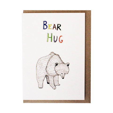 Bear hug card