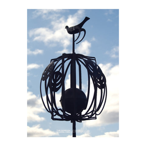 Poster - Rooftop bird finial