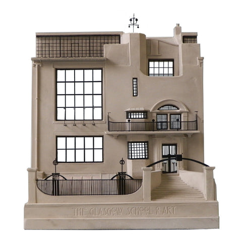 The Glasgow School of Art Mackintosh building front model