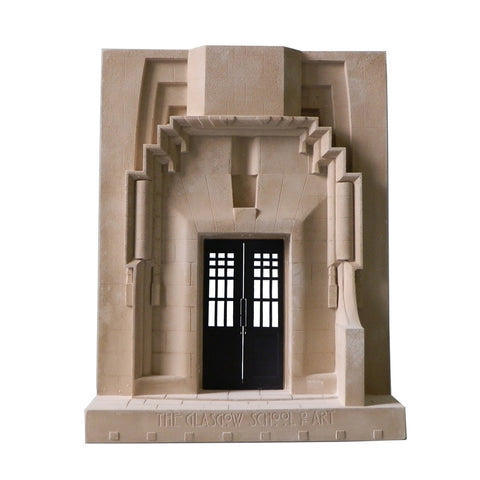 Mackintosh building model - west doorway