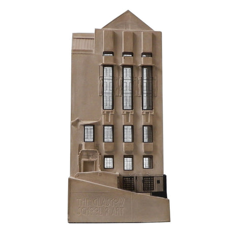 Mackintosh building model - west façade