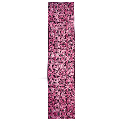 Mackintosh 'rose & teardrop' print silk scarf