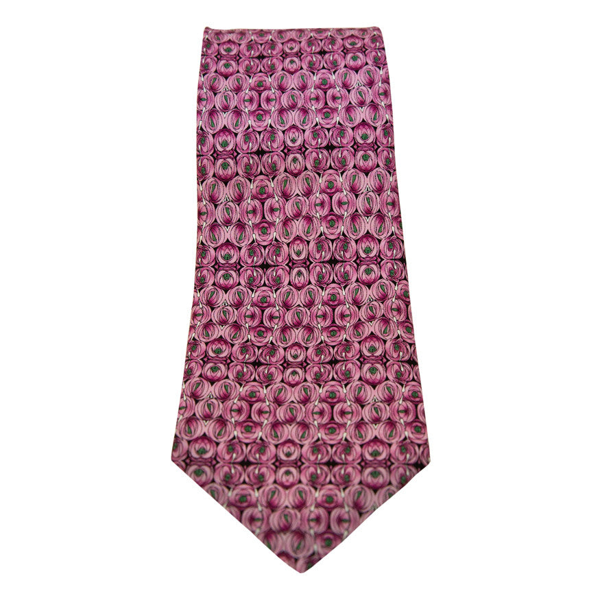 Mackintosh 'rose & tear' print silk tie