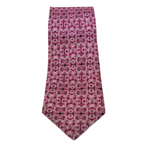 Mackintosh silk tie - rose and teardrop