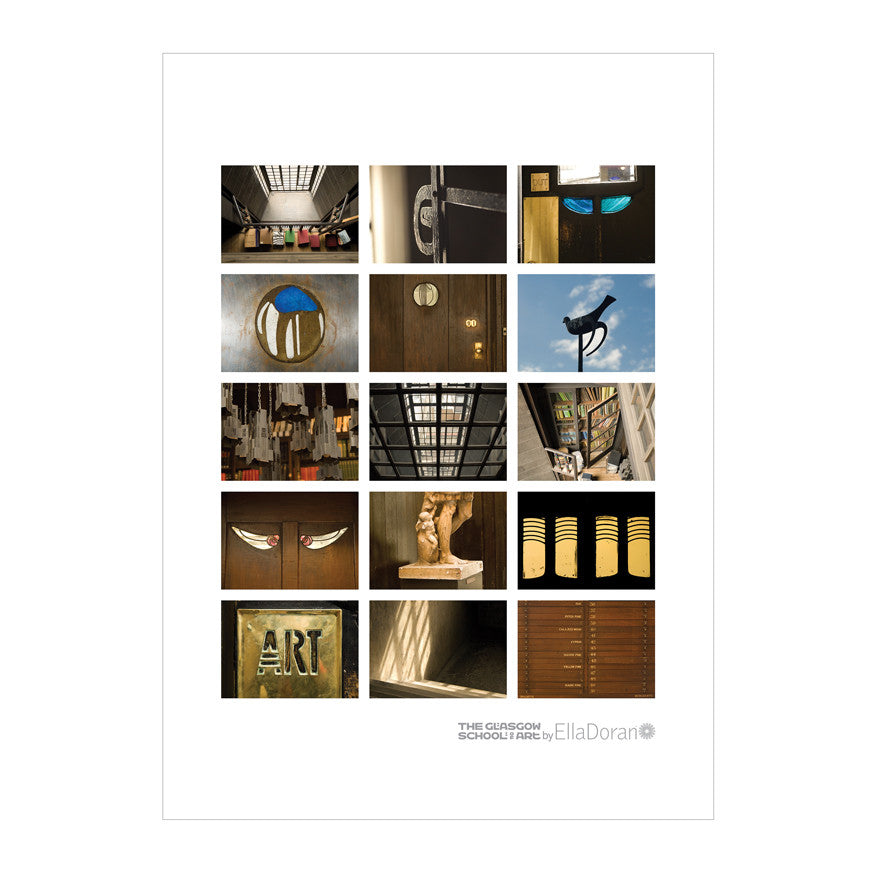 Poster - Mackintosh building montage