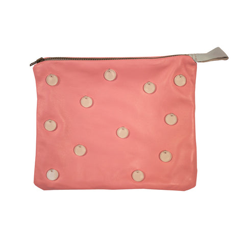 Embellished pouch - pink