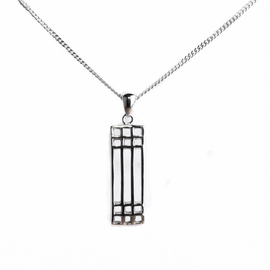 Silver lattice pendant