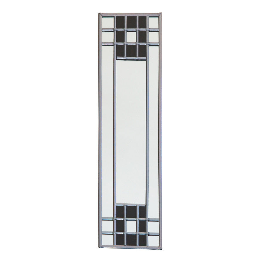 Stained glass lattice mirror