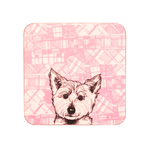 Westie coasters - set of 4