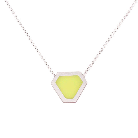 Triangle necklace - yellow