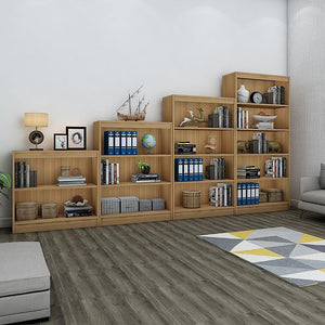 "Alpha Bookshelves & Storage Cabinets-Set of 4 (67""+54""+42""+30"")- Misty Oak *Free Installation*"