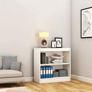 "Alpha Bookcase & Storage Cabinet with 3 shelf, 30"" high- Frosty White *Free Installation* - A10 SHOP"