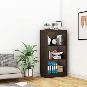 "Alpha Bookcase & Storage Cabinet with 4 shelf, 48"" high x 24"" wide- Classic Wenge *Free Installation* Bookshelf - A10 SHOP"