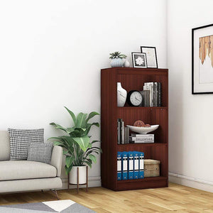 "Alpha Bookcase & Storage Cabinet with 4 shelf, 48"" high x 24"" wide-Mahagony *Free Installation* - A10 SHOP"