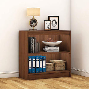 "Alpha Bookshelf & Storage Cabinet with 3 shelf, 30"" high- Acacia Walnut *Free Installation* Bookshelf - A10 SHOP"