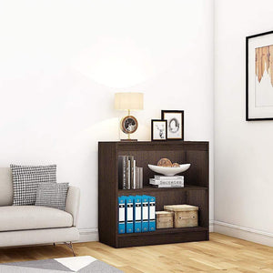 "Alpha Bookshelf & Storage Cabinet with 3 shelf, 30"" high- Classic Wenge *Free Installation* - A10 SHOP"