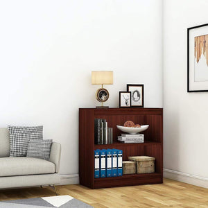 "Alpha Bookshelf & Storage Cabinet with 3 shelf, 30"" high- Mahogany *Free Installation* - A10 SHOP"