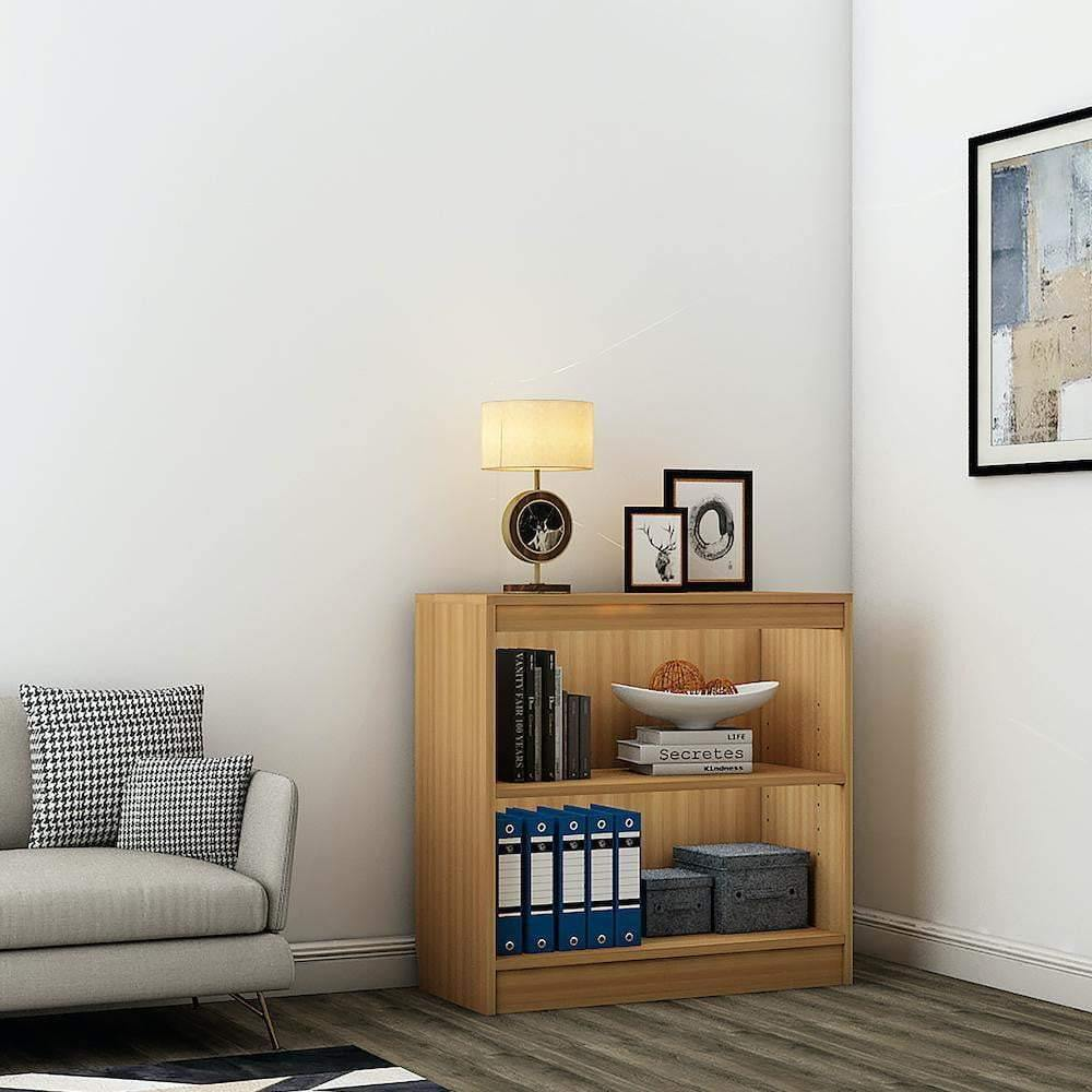 "Alpha Bookshelf & Storage Cabinet with 3 shelf, 30"" high- Misty Oak *Free Installation* - A10 SHOP"