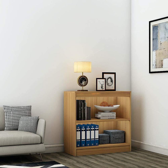 "Alpha Bookshelf & Storage Cabinet with 3 shelf, 30"" high- Misty Oak *Free Installation*"