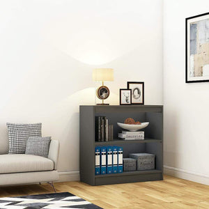 "Alpha Bookshelf & Storage Cabinet with 3 shelf, 30"" high- Slate Grey *Free Installation* - A10 SHOP"