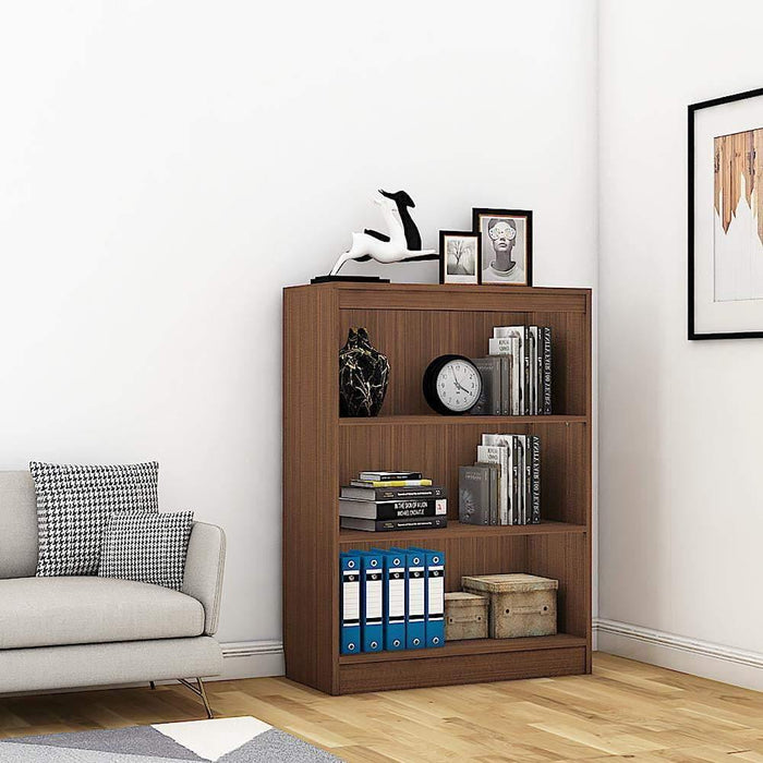 "Alpha Bookshelf & Storage Cabinet with 4 shelf, 42"" high- Acacia Walnut *Free Installation*"