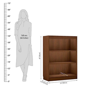 "Alpha Bookshelf & Storage Cabinet with 4 shelf, 42"" high- Acacia Walnut *Free Installation* - A10 SHOP"