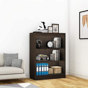 "Alpha Bookshelf & Storage Cabinet with 4 shelf, 42"" high-Classic Wenge *Free Installation* - A10 SHOP"