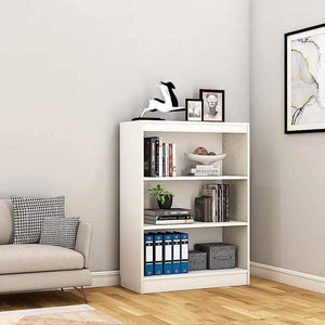 "Alpha Bookshelf & Storage Cabinet with 4 shelf, 42"" high-Frosty White *Free Installation* - A10 SHOP"