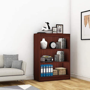 "Alpha Bookshelf & Storage Cabinet with 4 shelf, 42"" high-Mahogany *Free Installation* - A10 SHOP"
