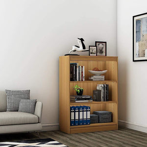 "Alpha Bookshelf & Storage Cabinet with 4 shelf, 42"" high- Misty Oak *Free Installation* - A10 SHOP"