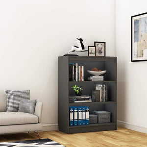 "Alpha Bookshelf & Storage Cabinet with 4 shelf, 42"" high-Slate Grey *Free Installation* - A10 SHOP"