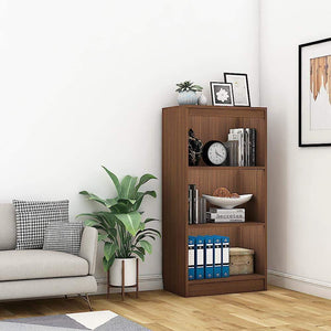 "Alpha Bookshelf & Storage Cabinet with 4 shelf, 48"" high x 24"" wide- Acacia Walnut *Free Installation* - A10 SHOP"