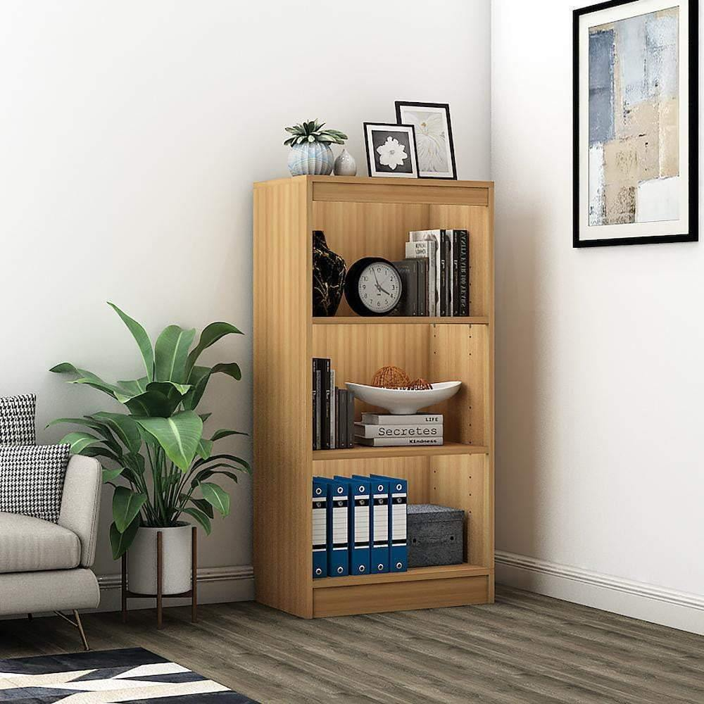 "Alpha Bookshelf & Storage Cabinet with 4 shelf, 48"" high x 24"" wide- Misty Oak *Free Installation* - A10 SHOP"