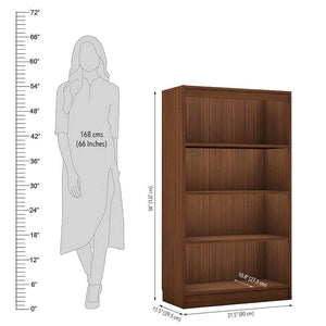 "Alpha Bookshelf & Storage Cabinet with 4 shelf, 54"" high- Acacia Walnut *Free Installation* Bookshelf - A10 SHOP"