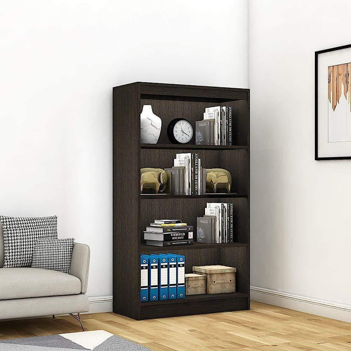 "Alpha Bookshelf & Storage Cabinet with 4 shelf, 54"" high-Classic Wenge *Free Installation*"