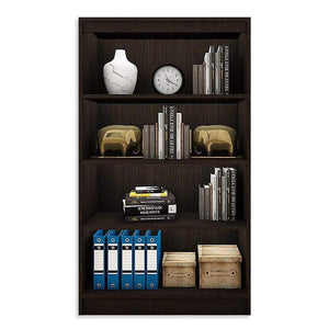"Alpha Bookshelf & Storage Cabinet with 4 shelf, 54"" high-Classic Wenge *Free Installation* Bookshelf - A10 SHOP"