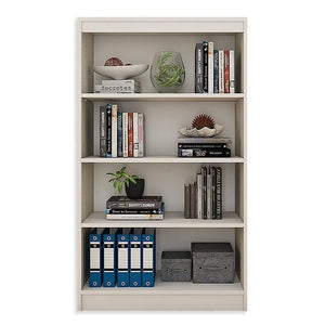 "Alpha Bookshelf & Storage Cabinet with 4 shelf, 54"" high-Frosty White *Free Installation* Bookshelf - A10 SHOP"