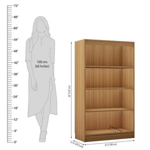 "Alpha Bookshelf & Storage Cabinet with 4 shelf, 54"" high- Misty Oak *Free Installation* - A10 SHOP"