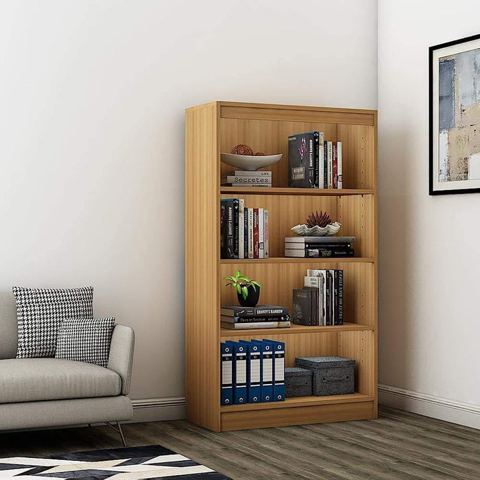"Alpha Bookshelf & Storage Cabinet with 4 shelf, 54"" high- Misty Oak *Free Installation*"