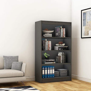 "Alpha Bookshelf & Storage Cabinet with 4 shelf, 54"" high-Slate Grey *Free Installation* - A10 SHOP"