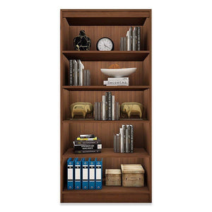 "Alpha Bookshelf & Storage Cabinet with 5 shelf, 67"" high- Acacia Walnut *Free Installation* Bookshelf - A10 SHOP"