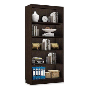 "Alpha Bookshelf & Storage Cabinet with 5 shelf, 67"" high- Classic Wenge *Free Installation* - A10 SHOP"