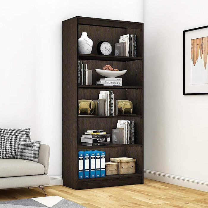 "Alpha Bookshelf & Storage Cabinet with 5 shelf, 67"" high- Classic Wenge *Free Installation*"