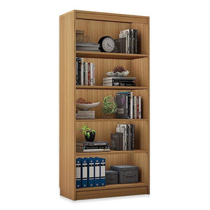 "Alpha Bookshelf & Storage Cabinet with 5 shelf, 67"" high- Misty Oak *Free Installation* Bookshelf - A10 SHOP"