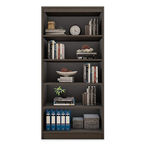 "Alpha Bookshelf & Storage Cabinet with 5 shelf, 67"" high- Slate Grey *Free Installation* - A10 SHOP"